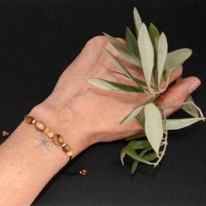 Bracelet réglable Libellule – Argent 925