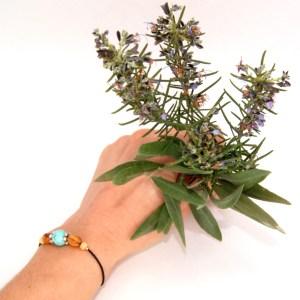 Bracelet pierre solitaire 10mm – taille réglable