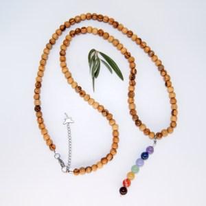 Collier «opéra» pendentif Chakras