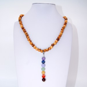 Collier «sautoir» pendentif Chakras