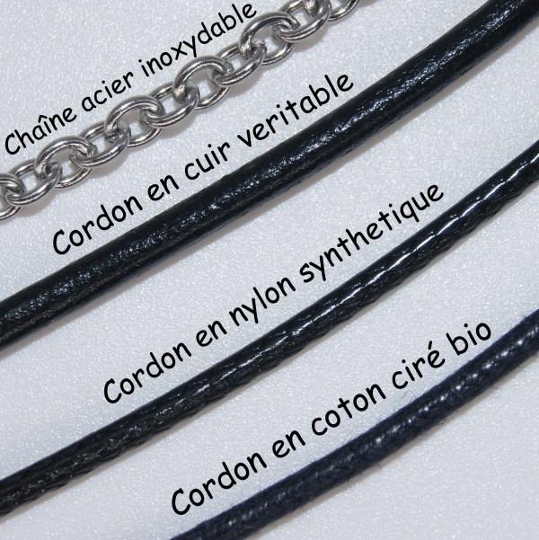 Femme Enfant Homme Mixte artisanat unique Olivier Amandier Cerisier Bijou Collier Bois Ajustable Acier Inoxydable coton bio cuir nylon