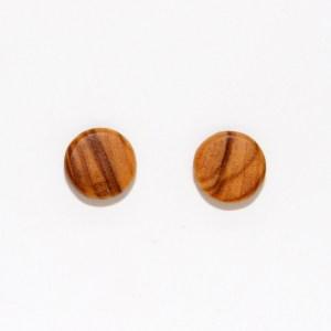 Puces d'oreilles – Olivier – plates Ø 0.8cm