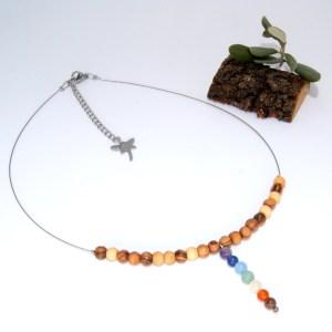Collier «choker» pendentif Chakras
