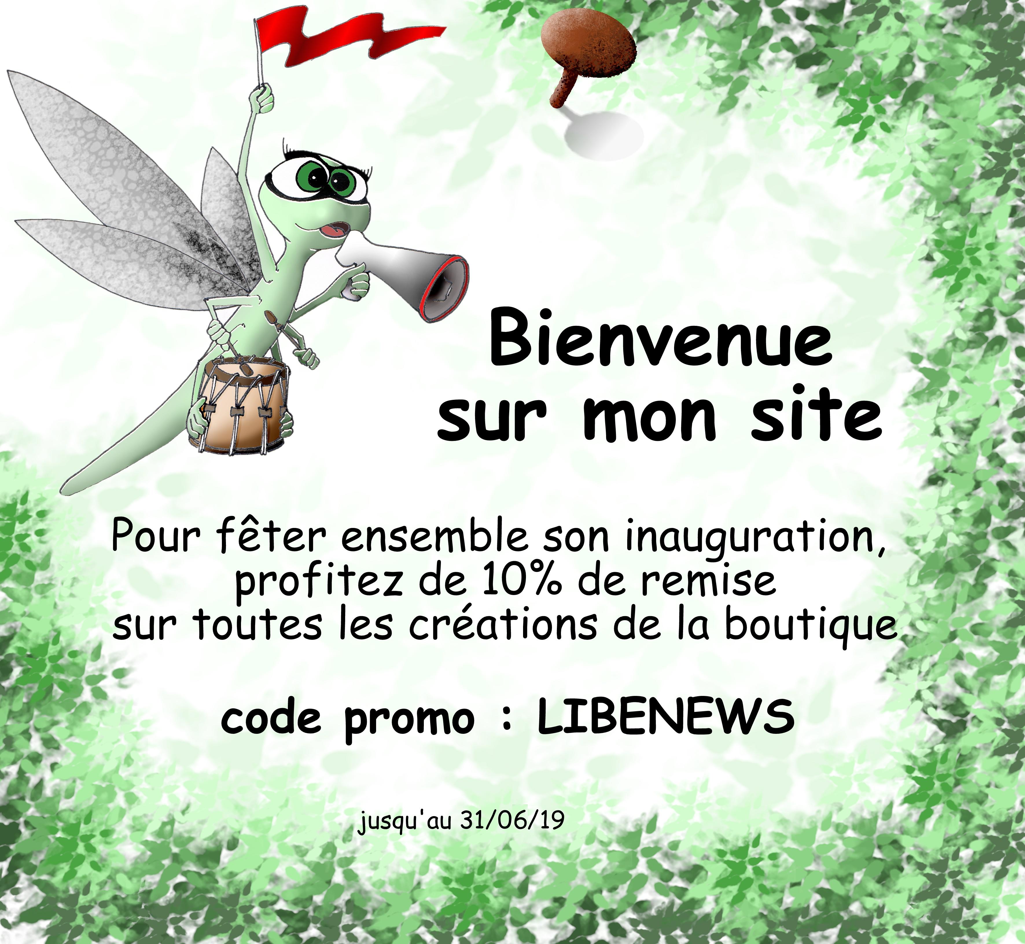 Libellule des bois, site internet, promotion