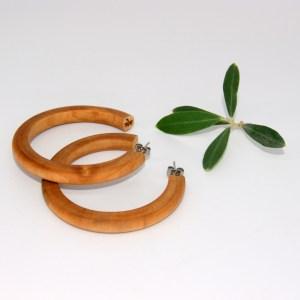 Créoles en Erable – Ø 5.6 cm