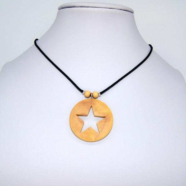Collier Filigrane d'étoile doré - Buis
