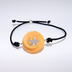Bracelet Empreinte d'étoile doré – Buis