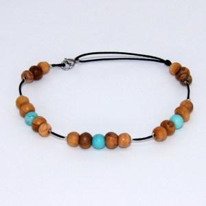 Bracelet de cheville «le turquoise»