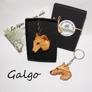 Commande pour K.B 2 Porte-clefs Galgo en Olivier