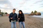 Playa de Vietri con piedrecitas