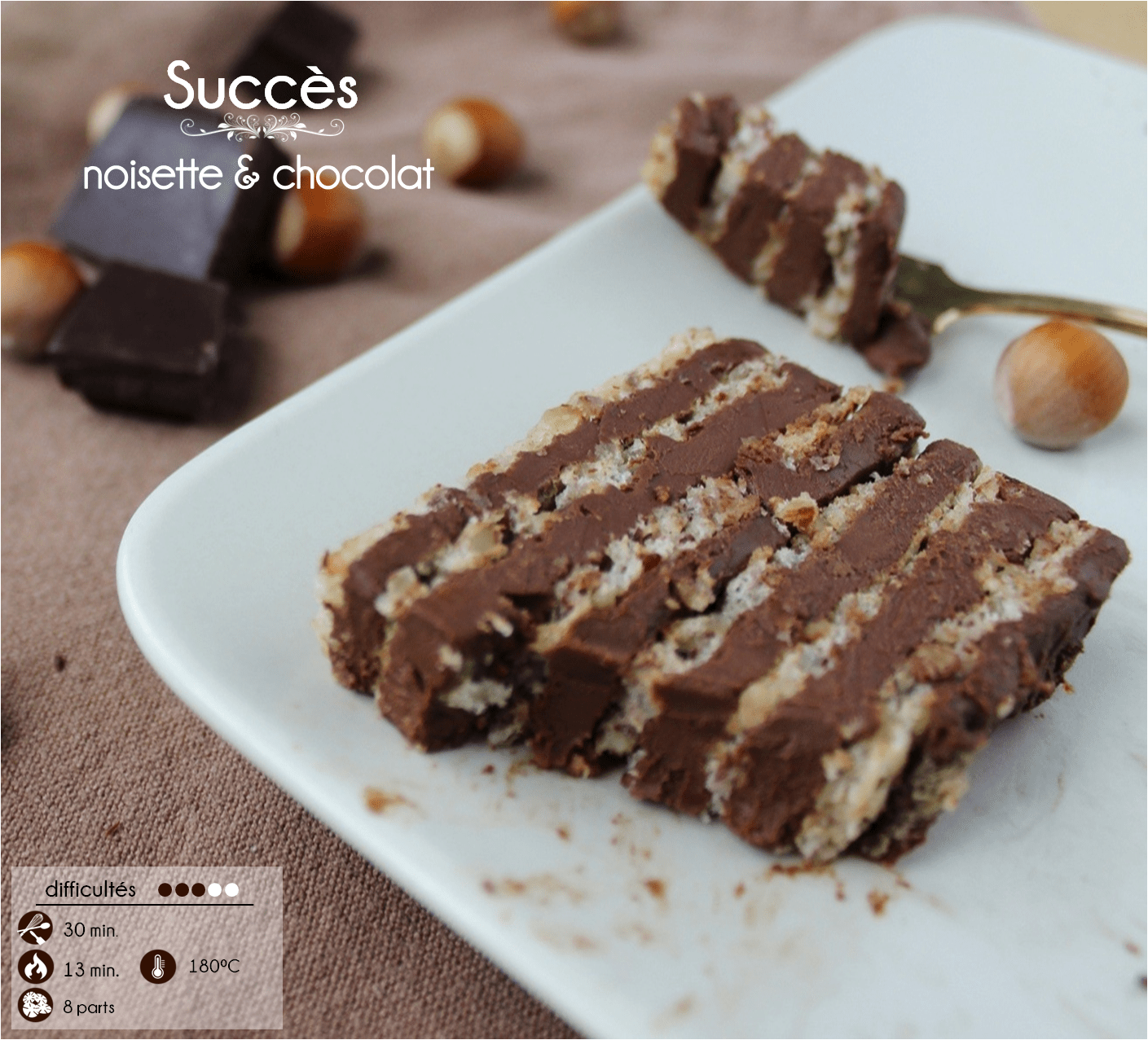 succes noisette chocolat