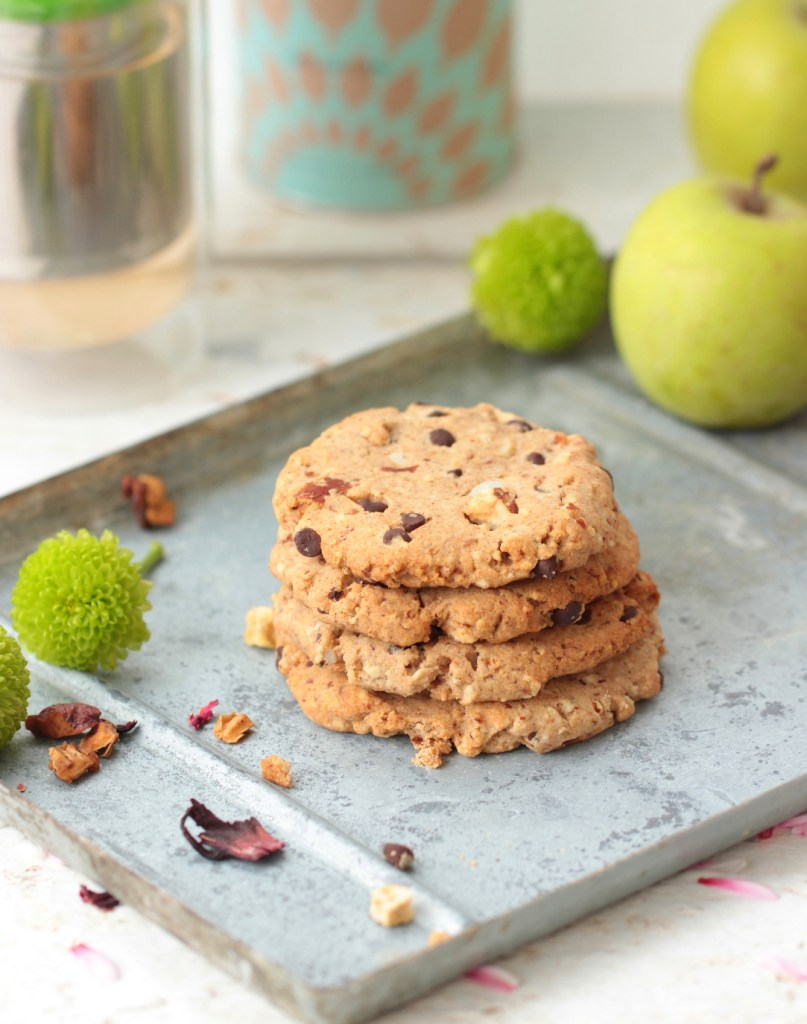 Cookies amande & chocolat sans sucre (vegan)