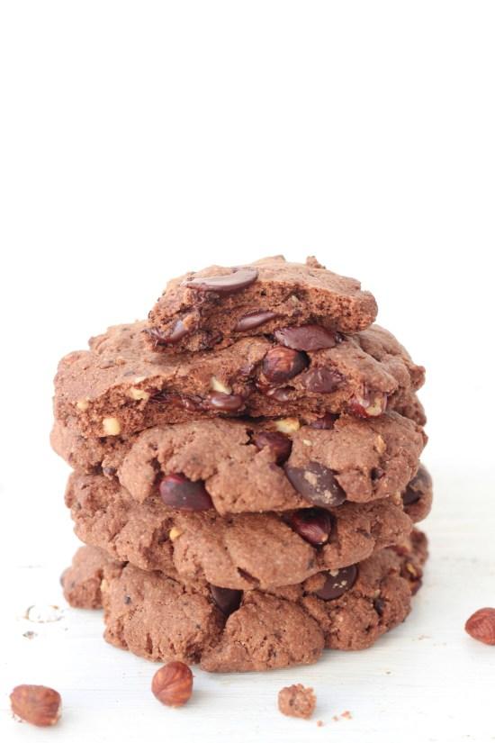 Méga cookies choco noisette