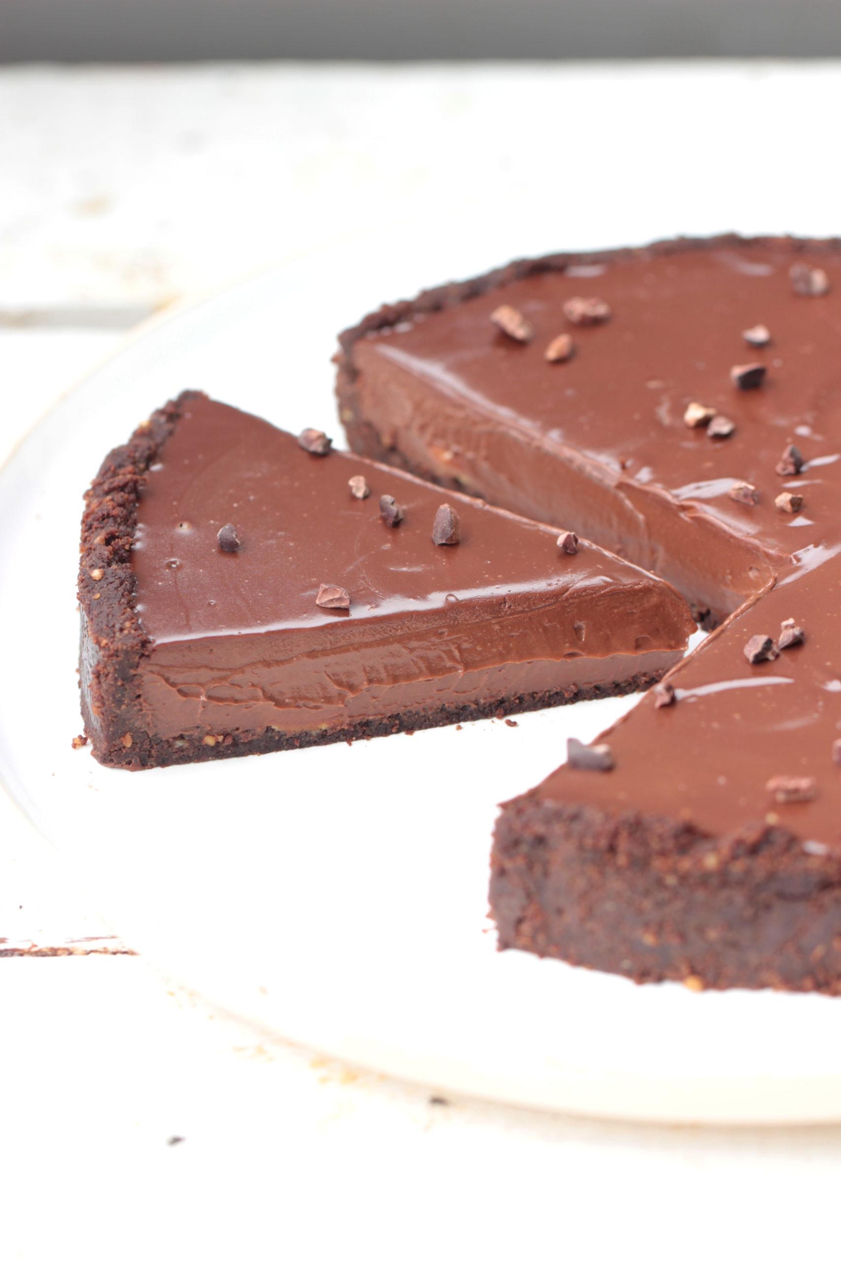 Tarte cookies au chocolat (vegan, sans sucre)
