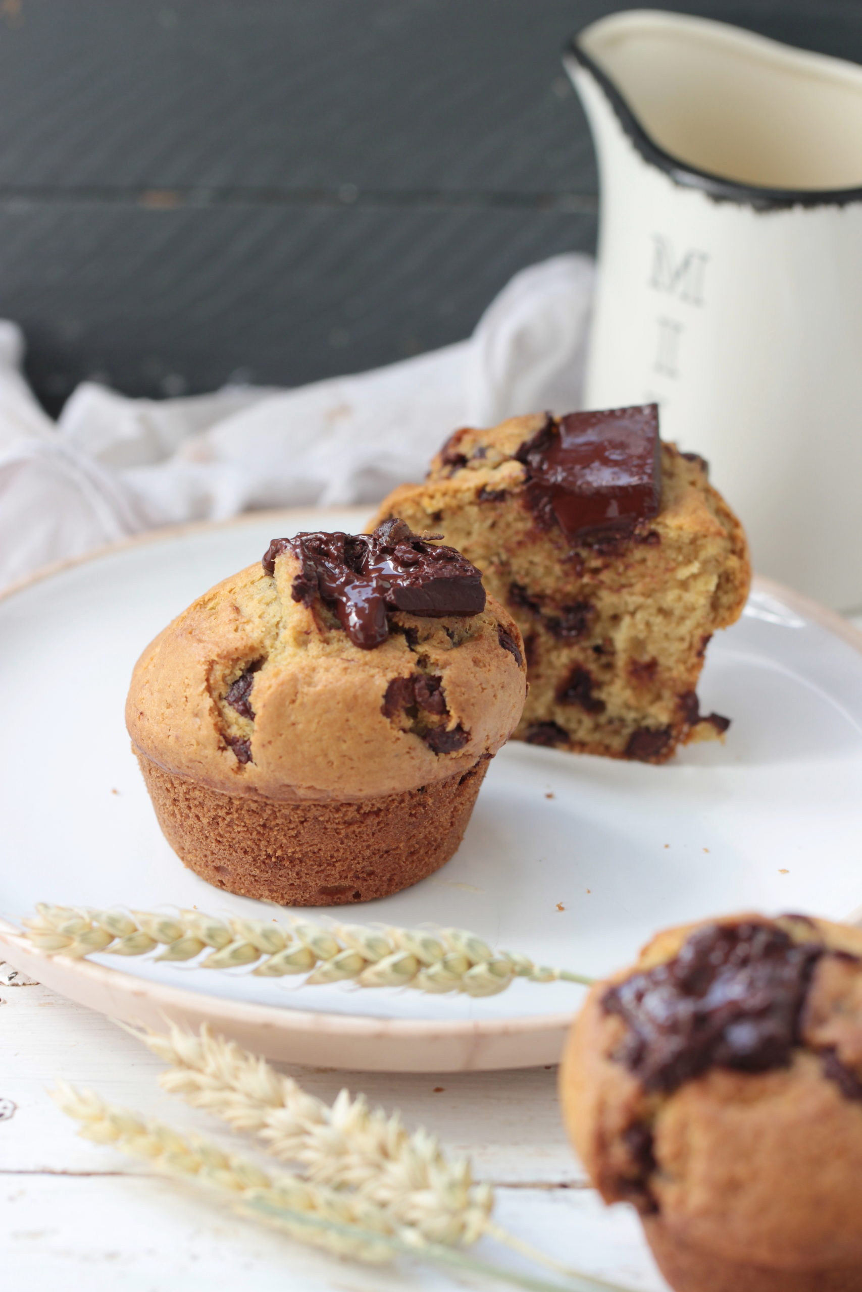 Muffins légers aux pépites de chocolat