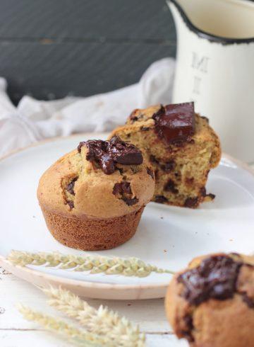 muffin léger aux pépites de chocolat