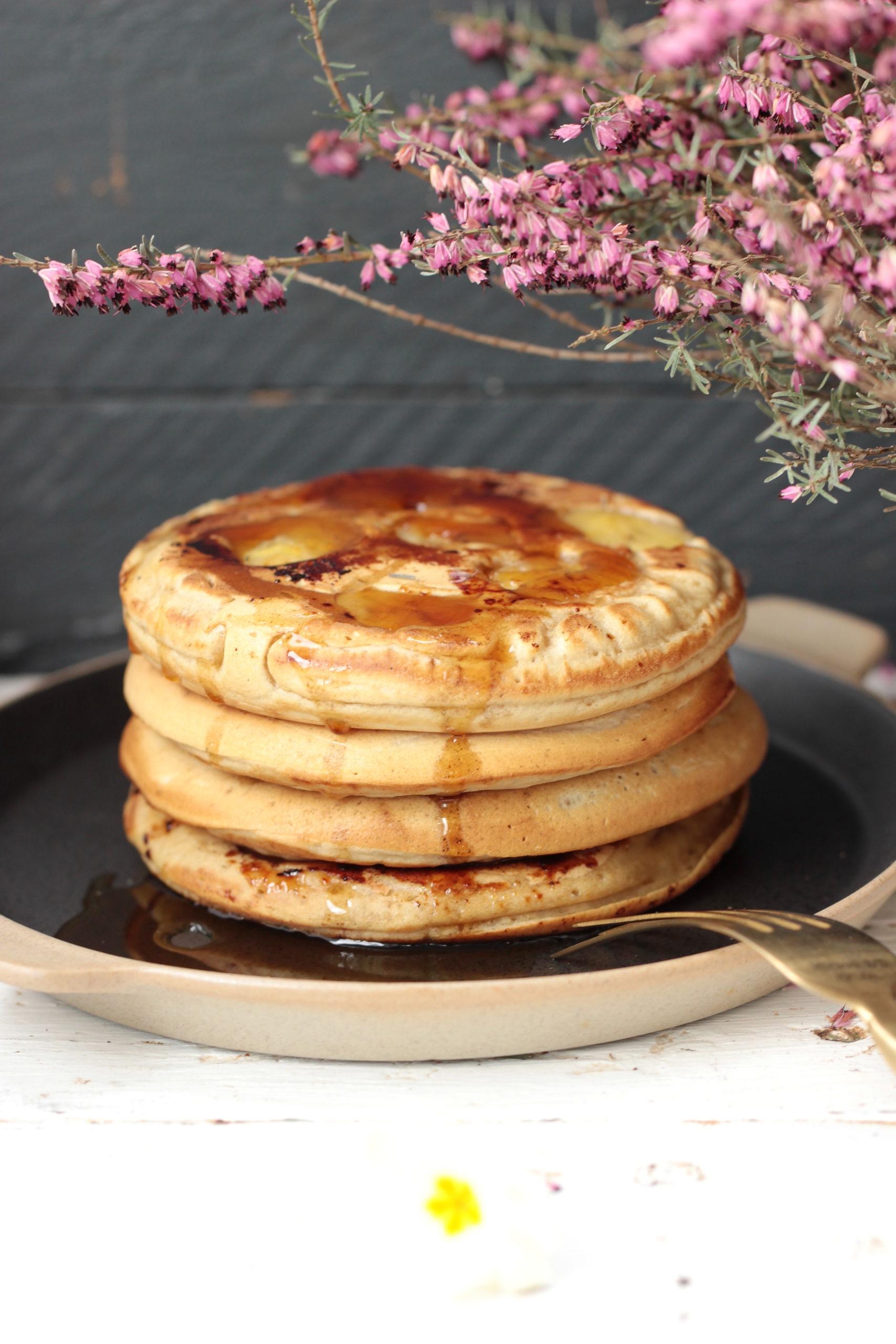 Pancakes à la banane, vegan & sans sucre