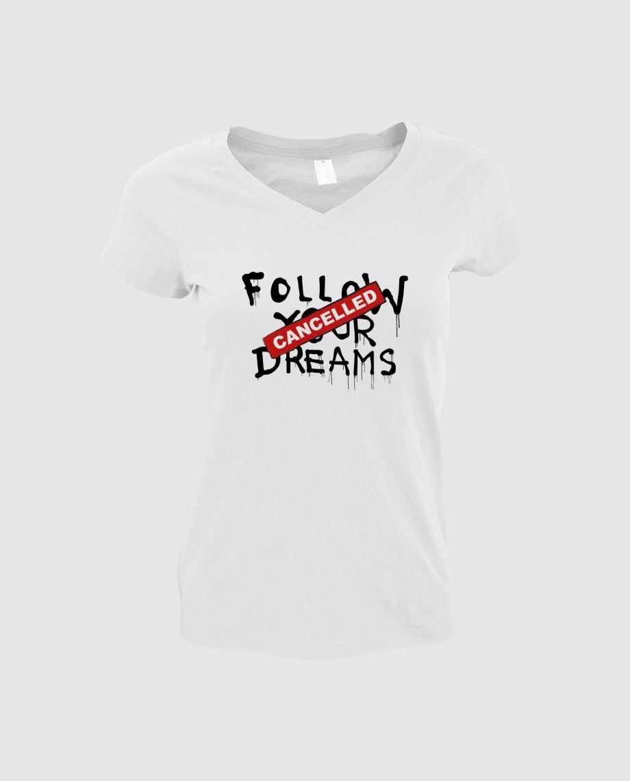 la-ligne-shop-t-shirt-blanc-femme-banksy-follow-your-dream-cancelled