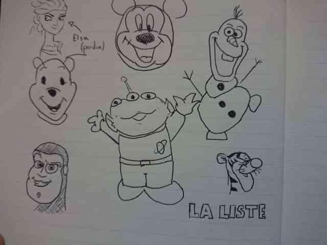 27 tutos-dessins très faciles pour reproduire les personnages Disney