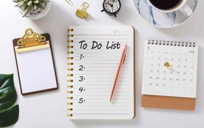 to do list work from home planner