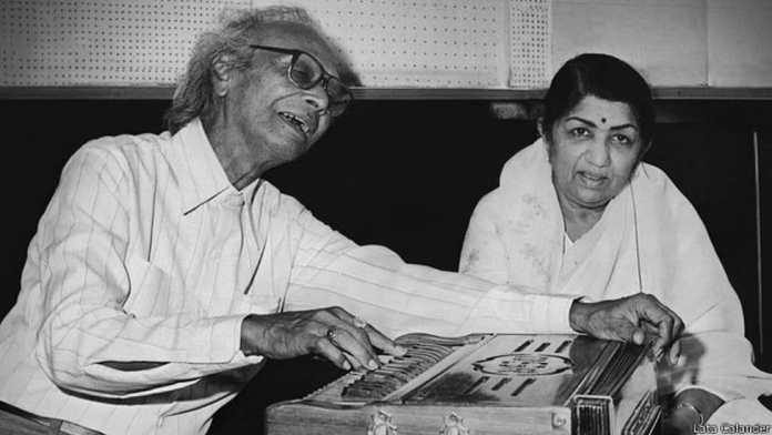 naushad ali with lata mangeshkar