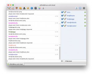 I joined the XMPP chat with Adium and can now follow the mon/fon bots talking