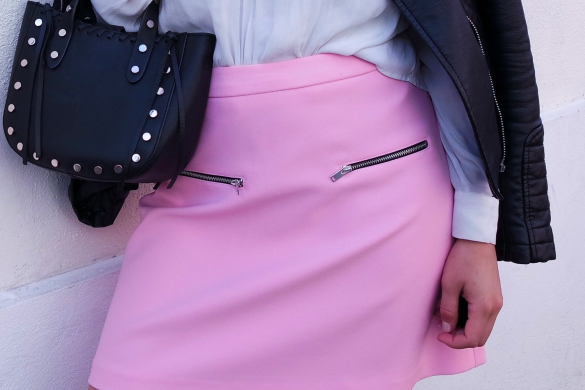 My baby pink skirt - Lallasmind Belgian Blogger