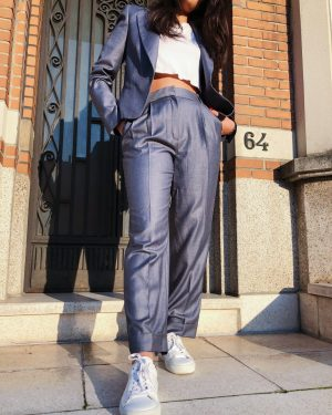 Mango tailored grey pants