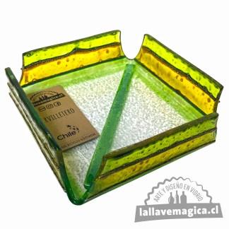 servilletero verde amarillo