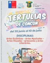 Afiche Tertulias de Concón