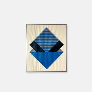 sérigraphie géométrique vintage