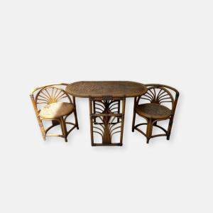 Table en Bambou avec chaises