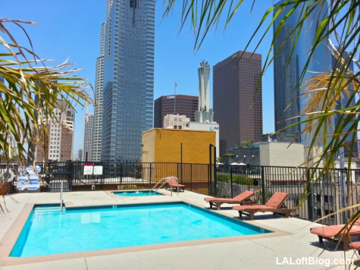 Shybary Grand Lofts Building Downtown Los Angeles Rooftop Pool