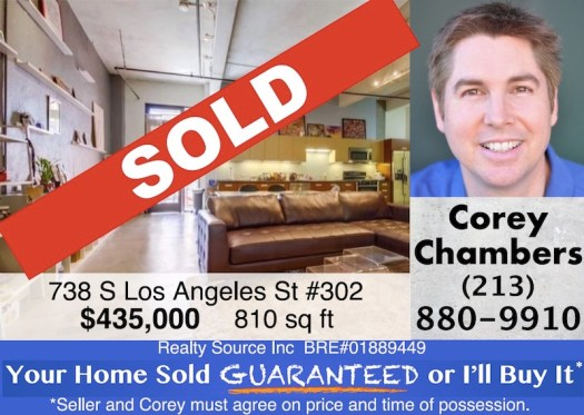 SOLD Downtown Los Angeles Eckardt Lofts