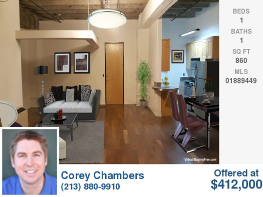 312 W 5th St 860 Sq Ft with private balcony $412,000