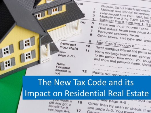 New Tax Code Changes for Real Estate 2018