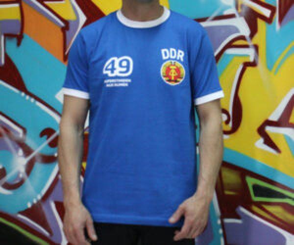 camiseta ddr azul rda