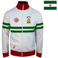 chaqueta andalucia blanca burdeos