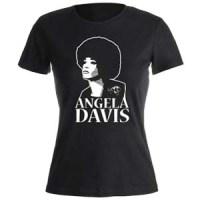 camiseta angela davis negra mujer