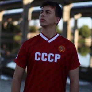 camiseta cccp roja lalokomotora