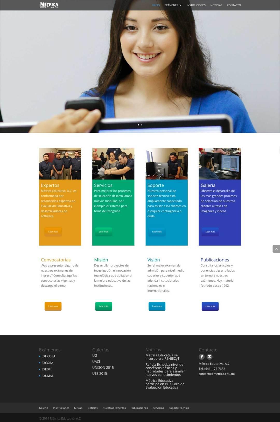 Desarrollo Web de Metrica Educativa por Lalo Marquez