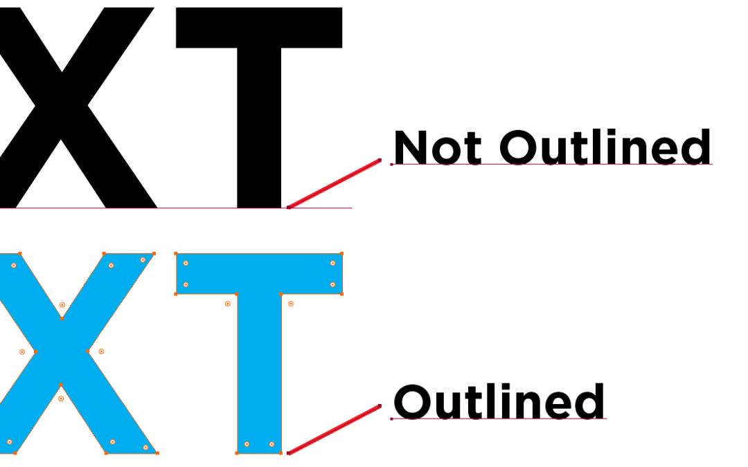 Convirtiendo a curvas el texto ¿es necesario?