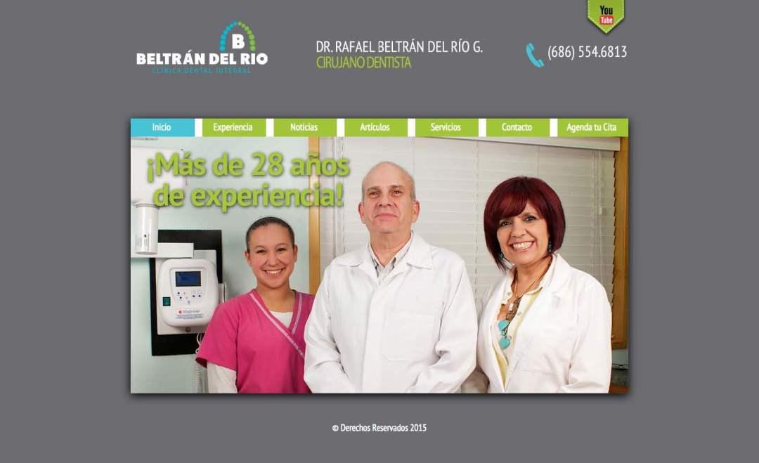 Desarrollo Web de Clinica Dental del Dr Beltran del Rio por Lalo Marquez