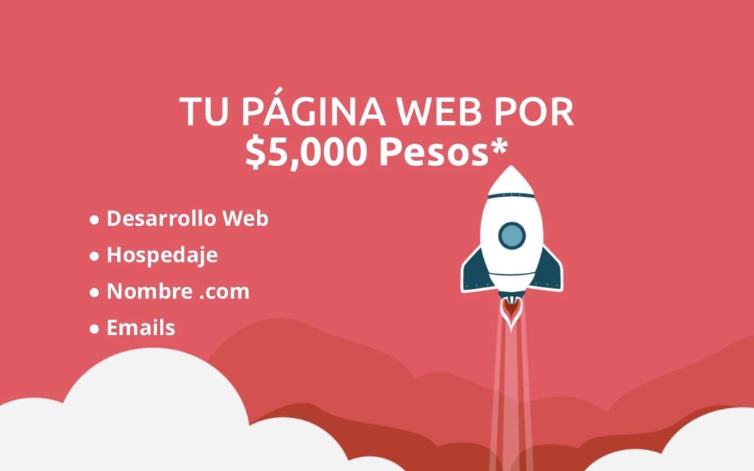 Tu Página Web por 5000 Pesos