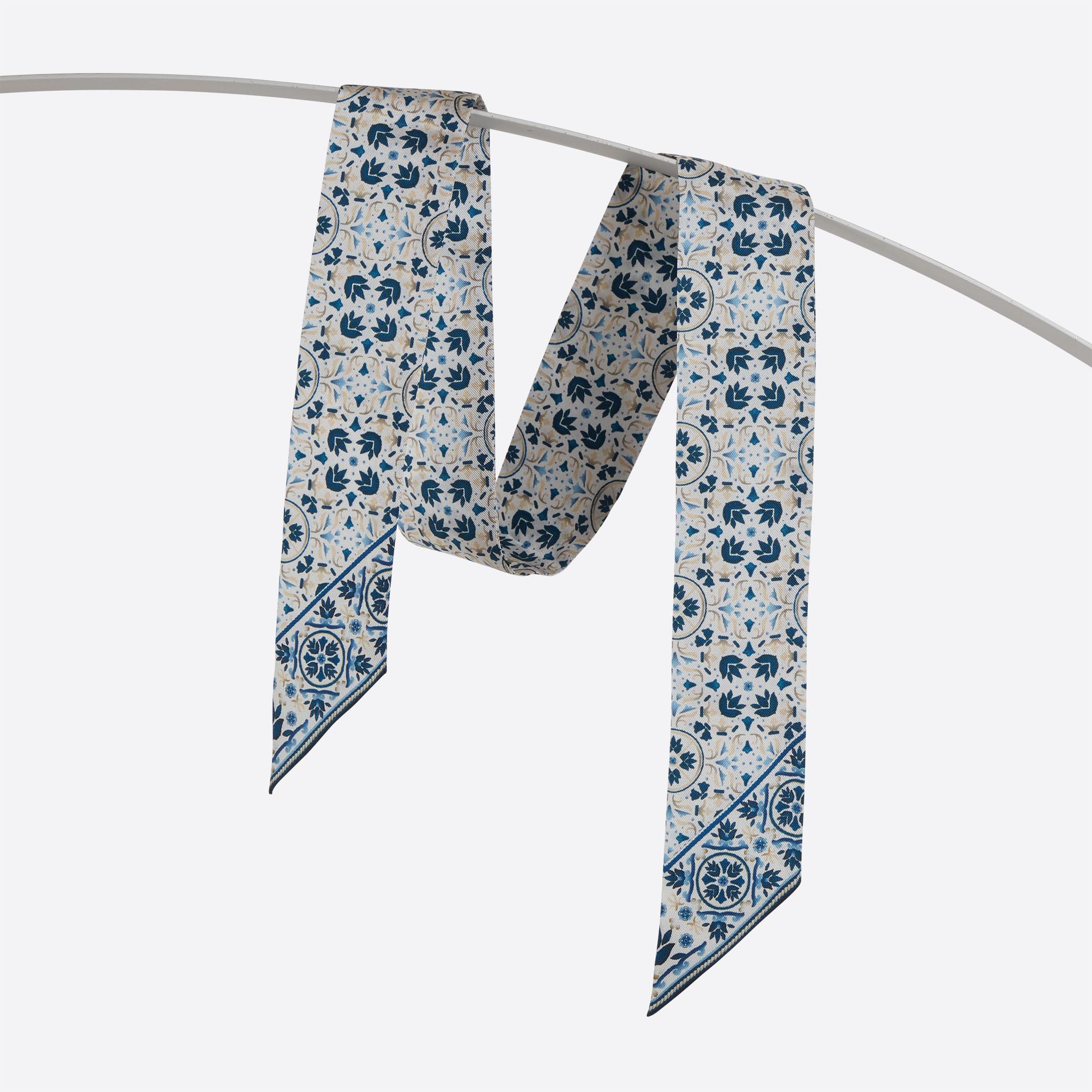 Lalouette Moroccan print skinny silk scarf hanging