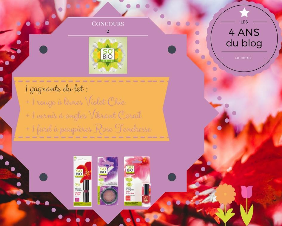 concours anniversaire blog blogueuse lot gratuit à gagner SOBIO ETIC Hydra aloe vera biologique