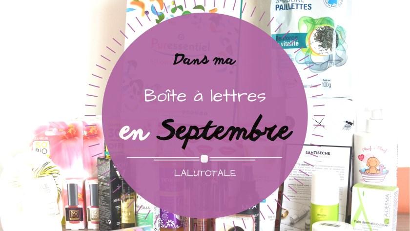 ( HAUL les coeurs ! ) En Septembre, dans ma boîte à lettres…