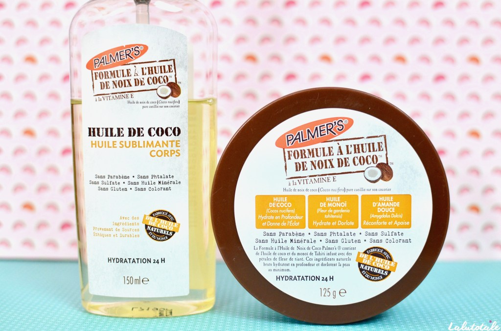 Palmer's huile coco beurre baume corps
