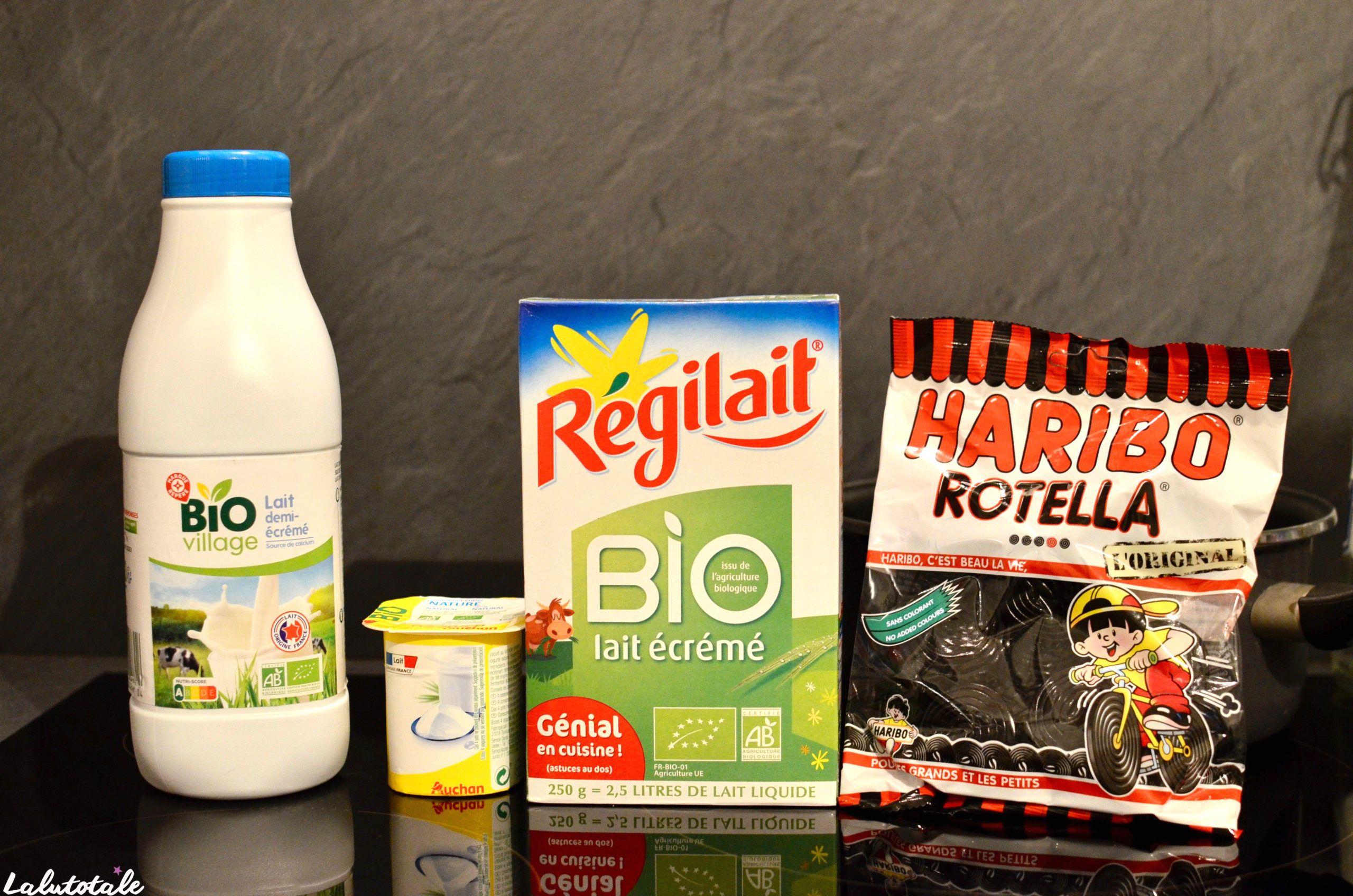 ingrédients recette yaourts réglisse Rotella