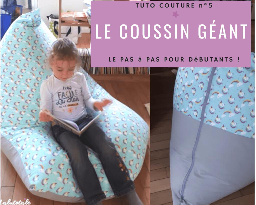 tuto couture DIY gratuit coussin géant enfant